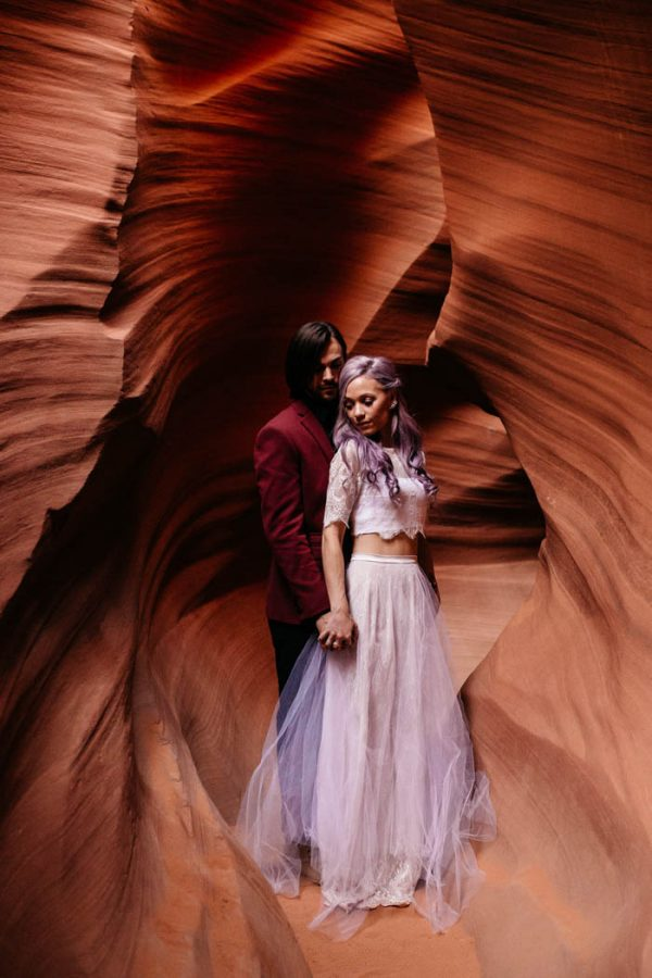 Alternative Antelope Canyon Elopement Junebug Weddings