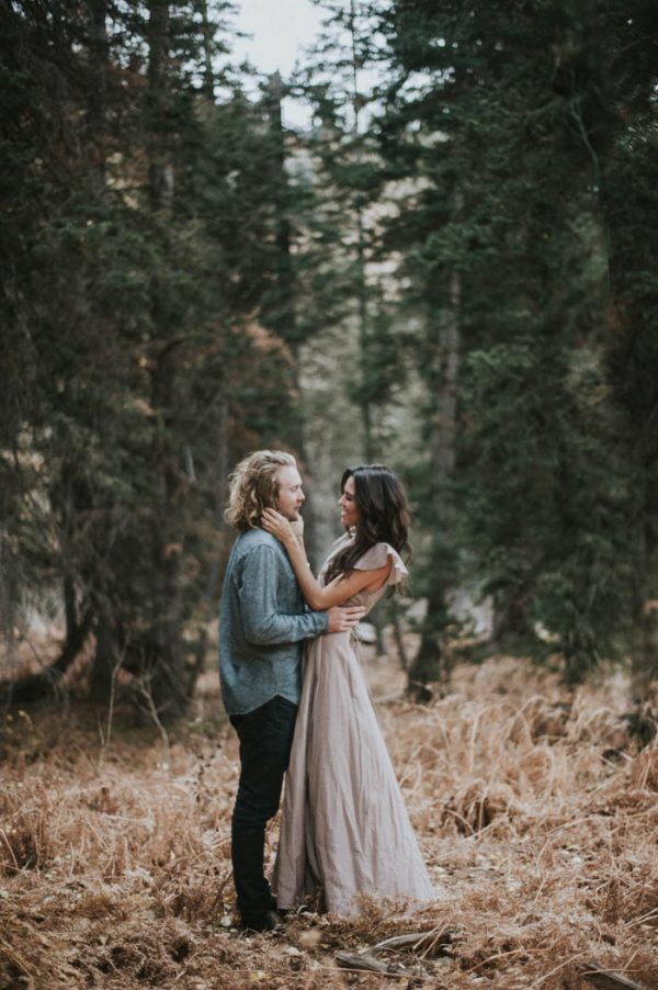 This Salt Lake City Engagement is Like a Folksy Forest Fairy Tale Blush Photography-30