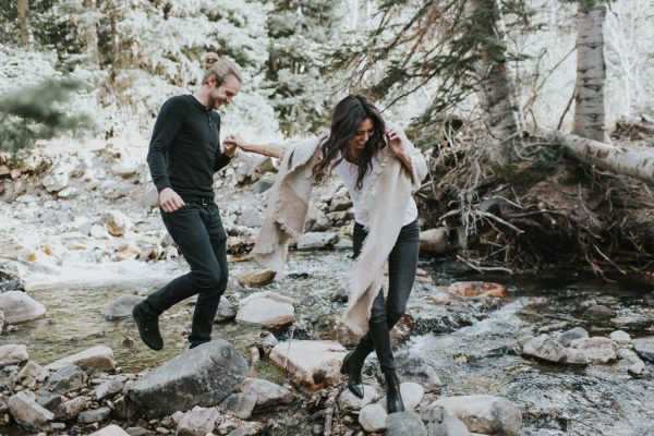 This Salt Lake City Engagement is Like a Folksy Forest Fairy Tale Blush Photography-38