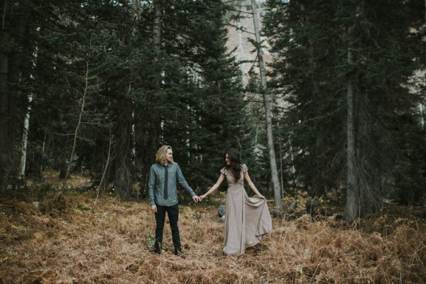 This Salt Lake City Engagement is Like a Folksy Forest Fairy Tale Blush Photography-44