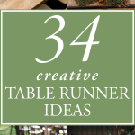 34 Creative Table Runner Ideas for Your Wedding Reception