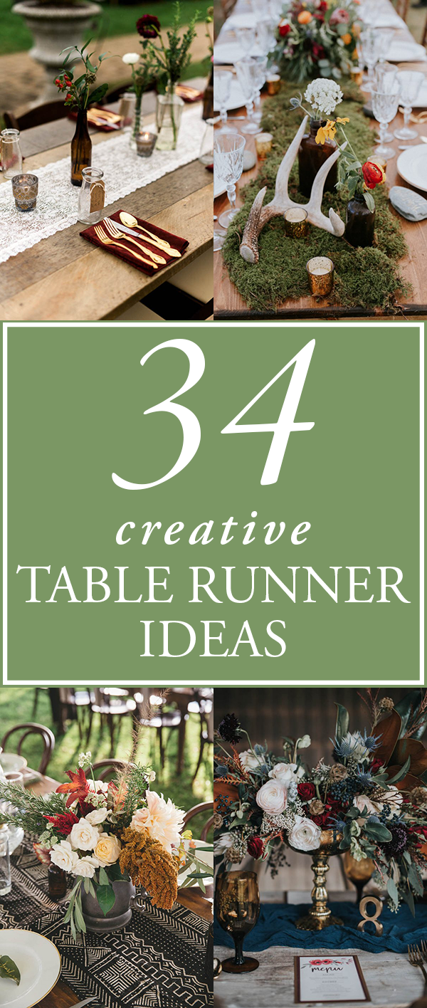 34 Creative Table Runner Ideas for Your Wedding Reception | Junebug ...