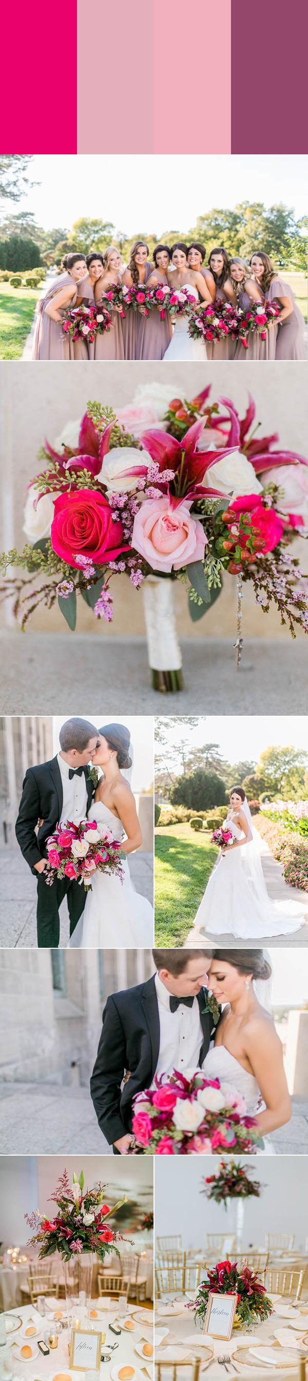 7 Swoon-Worthy Pink Wedding Color Palettes | Junebug Weddings