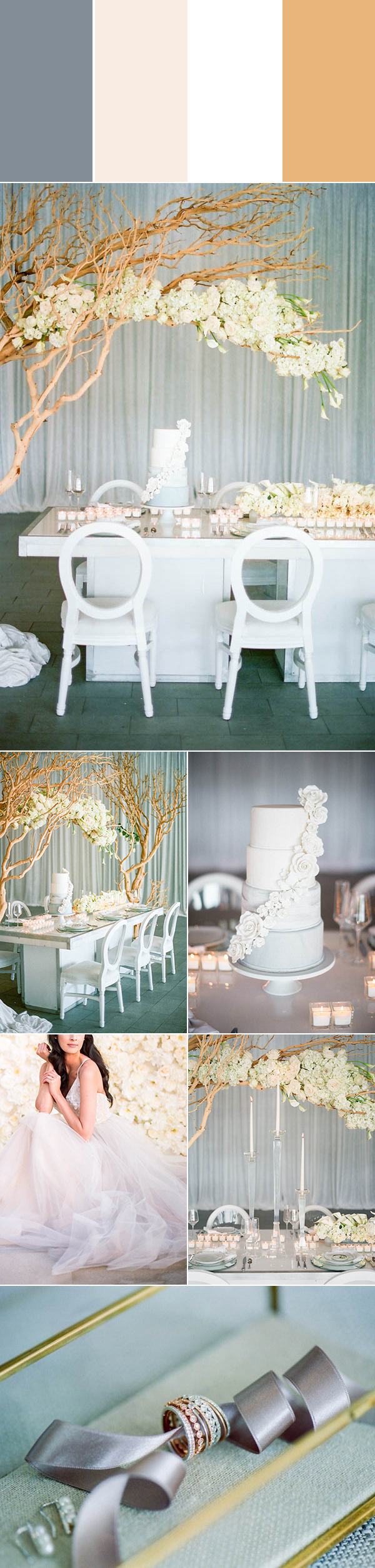5 Strikingly Beautiful Neutral Wedding Color Palettes | Junebug Weddings