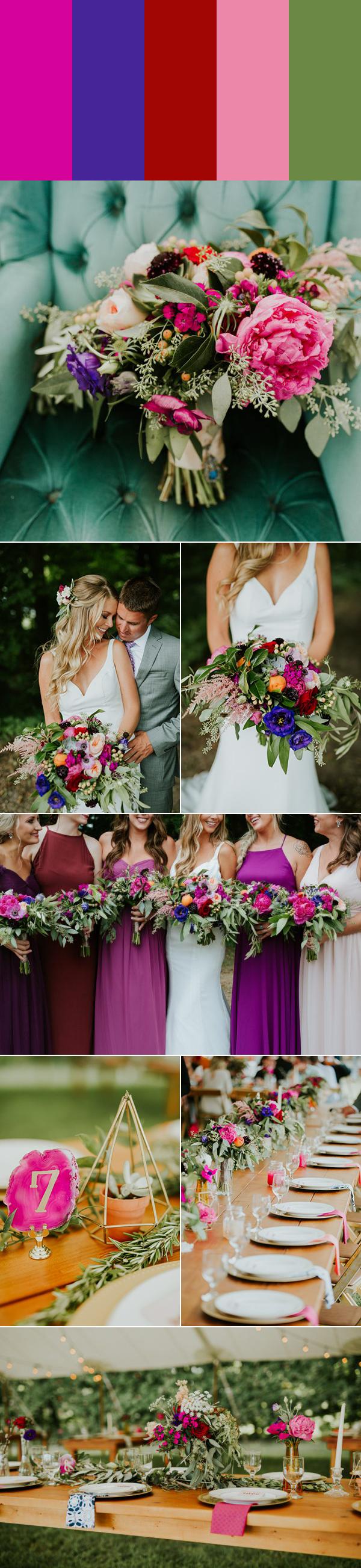 7 Swoon Worthy Pink Wedding Color Palettes Junebug Weddings