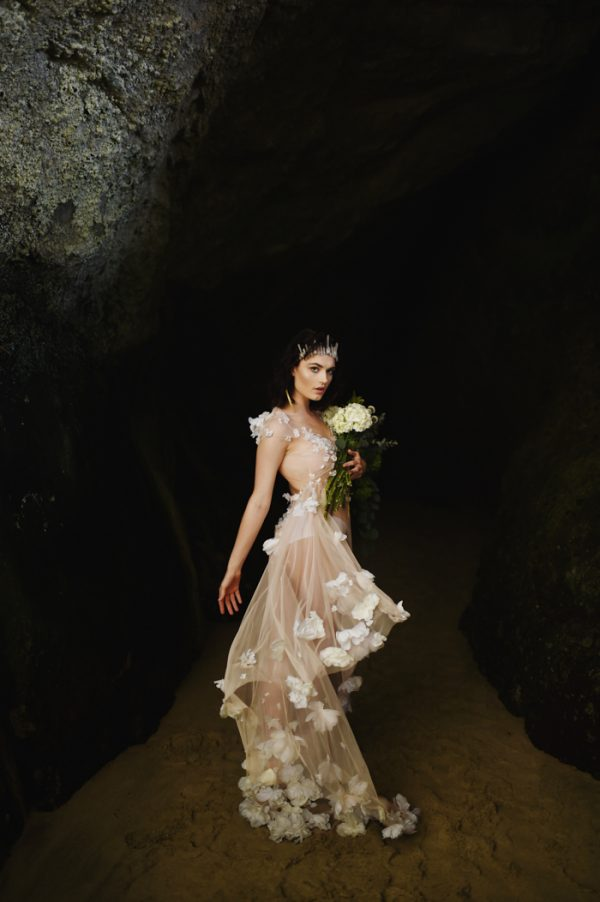 Striking Laguna Beach Bridal Shoot
