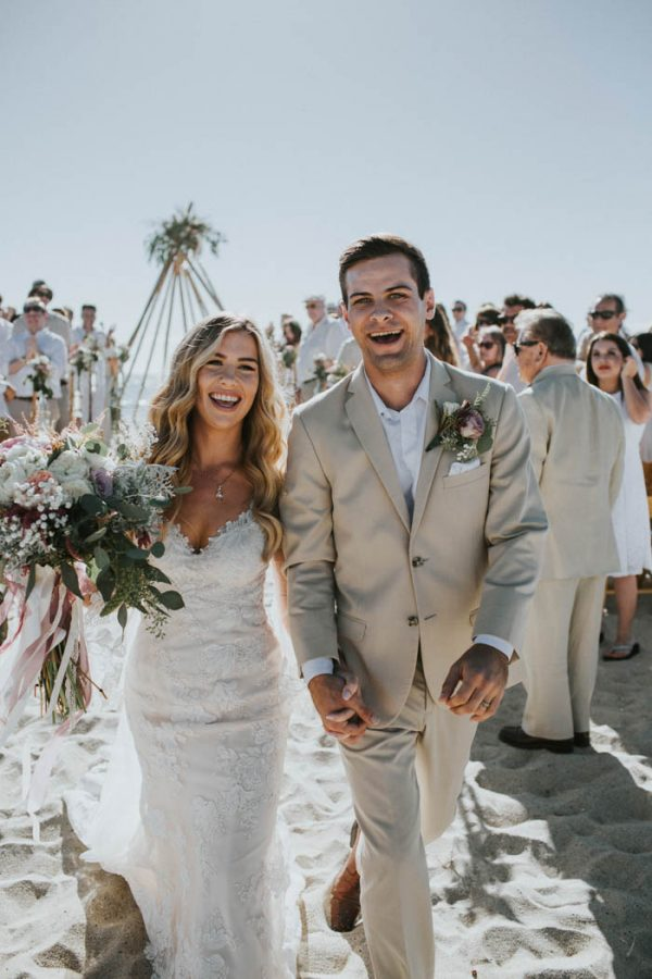 Breezy Cream And Beige Beach Wedding At Levyland Estates Junebug