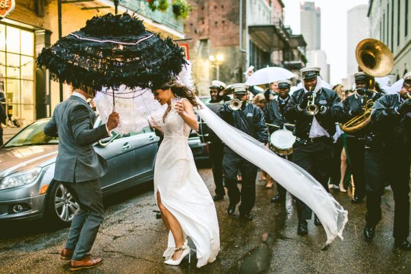 There Is One Gorgeous Photo Of Our Wedding Party Walking Down A Side Street After The Second Line That I Am Absolutely In Love With