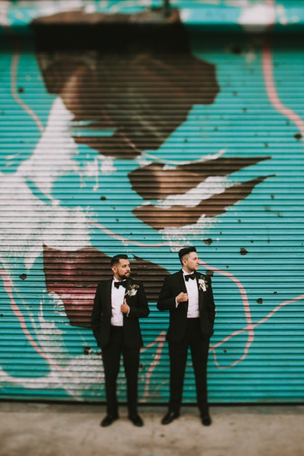 Black And White Industrial Los Angeles Wedding At 440 Seaton