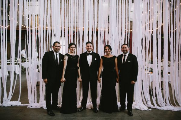 Black and White Industrial Los Angeles Wedding at 440 Seaton ...