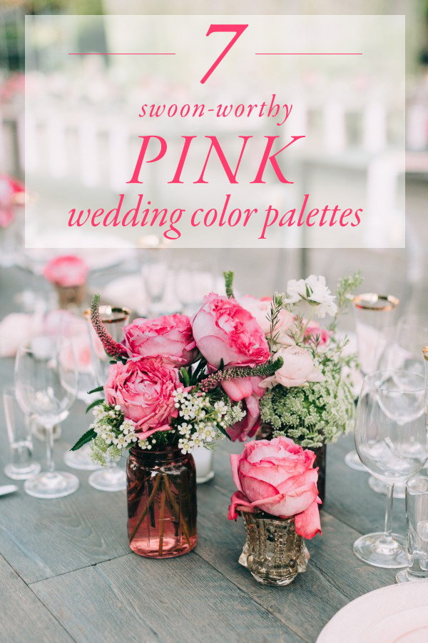 7 swoon worthy pink wedding color palettes junebug weddings junglespirit