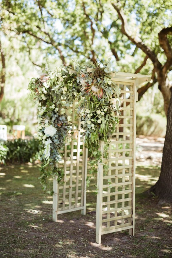 Botanical Wrapped Wood Ceremony Arches