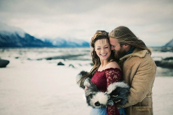 This Alaskan Wedding Inspiration Shoot Turned Into a Stylish Surprise Proposal