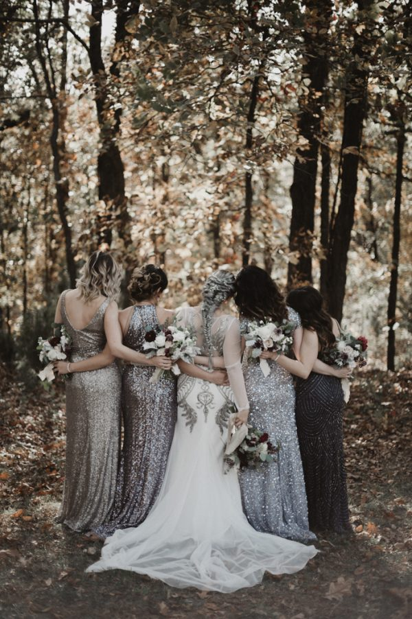 Eclectic Silver And Burgundy Oklahoma Wedding At Skelly Lodge Junebug Weddings
