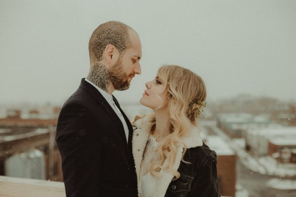 Minimalist Bohemian Montreal Wedding At Studio Eloi Junebug Weddings