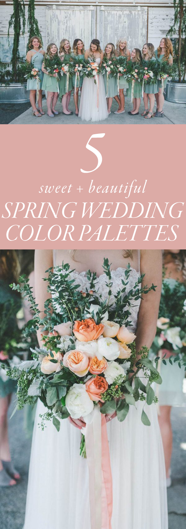 Spring Wedding Colors.5 Sweet Spring Wedding Color Palette Ideas Junebug Weddings
