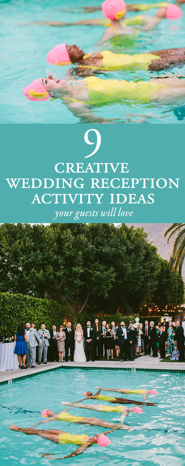 9 Creative Reception Activities Your Guests Will Love | Junebug Weddings
