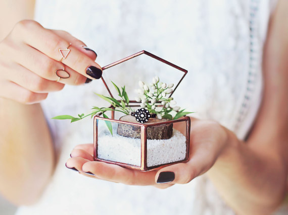 Small Glass Wedding Ring Box By NojaGlassDesign