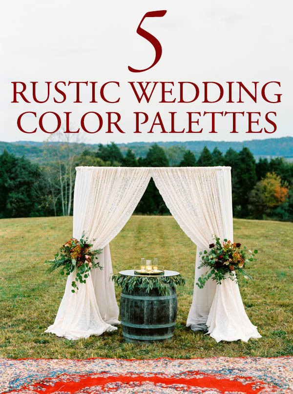 5 rustic wedding color palette ideas junebug weddings junglespirit Image collections