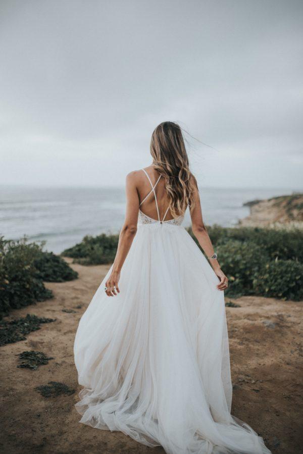 Barefoot Seaside Sunset Cliffs Wedding in San Diego Junebug Weddings