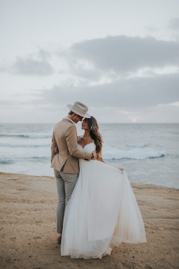 barefoot seaside sunset cliffs wedding in san diego