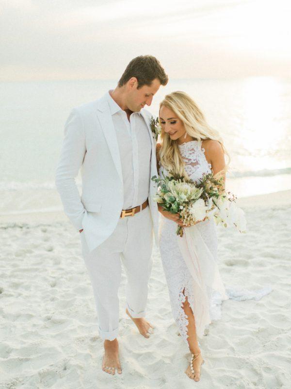 Boho beach wedding at la playa beach and golf resort for Beach wedding photos