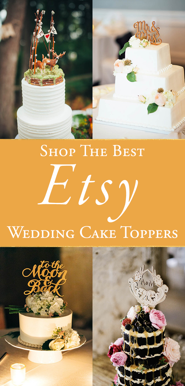 The Best Etsy Wedding Cake Toppers | Junebug Weddings