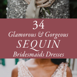 34 Glamorous and Gorgeous Sequin Bridesmaids Dresses