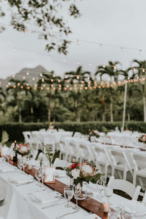 Utterly Romantic Hawaiian Wedding At Moli I Gardens At Kualoa Ranch