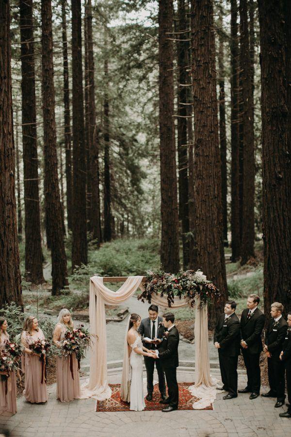 This UC Botanical Garden Wedding Is The Epitome Of Laid Back Glamour |  Junebug Weddings