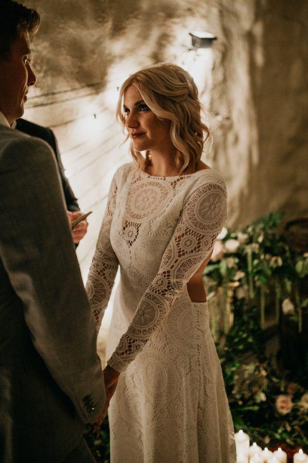 Vineyard Wedding Dress with Pockets