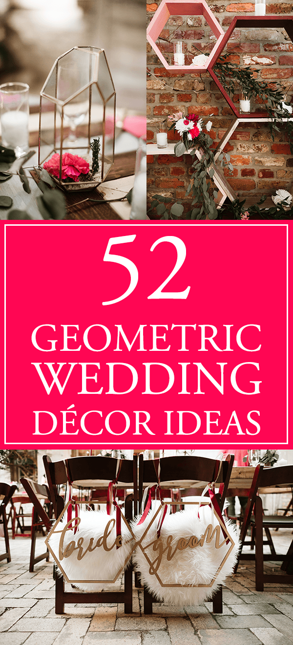 52 Geometric Wedding Décor Ideas