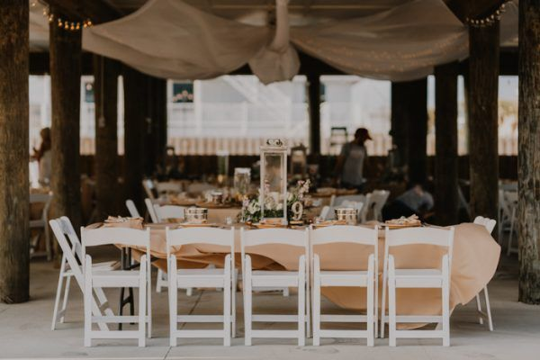 Glamorous Barefoot Pensacola Beach House Wedding Junebug Weddings