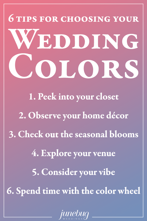 looking for more inspiration for choosing your wedding colors check out these gorgeous wedding color palettes