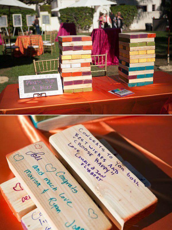 jenga wedding guest book alternative