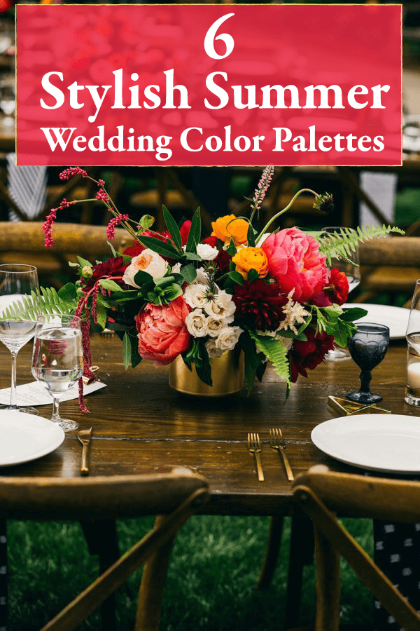 6 stylish summer wedding color palettes junebug weddings junglespirit Image collections