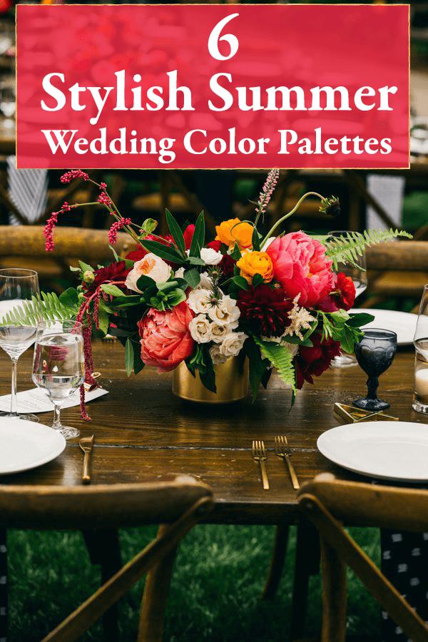 Wedding Colors For Summer.6 Stylish Summer Wedding Color Palettes Junebug Weddings
