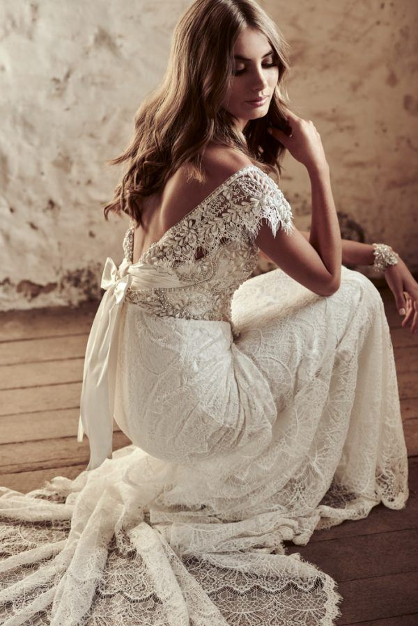 One Shoulder Roman Wedding Dress