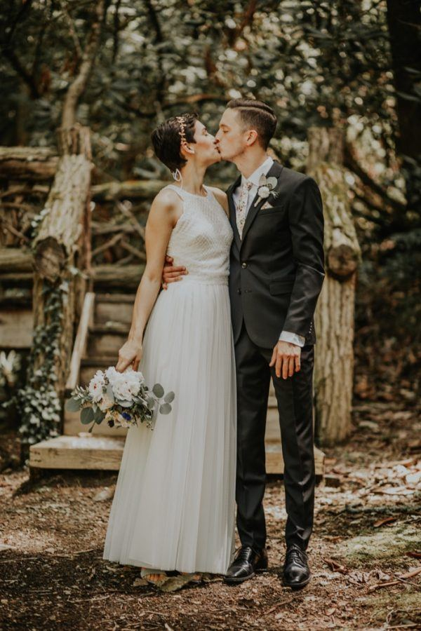 Eclectic DIY North Carolina Wedding at Watershed Cabins Resort