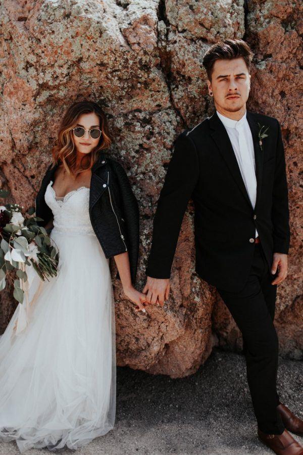 Elegant Black And White Phoenix Desert Wedding Junebug