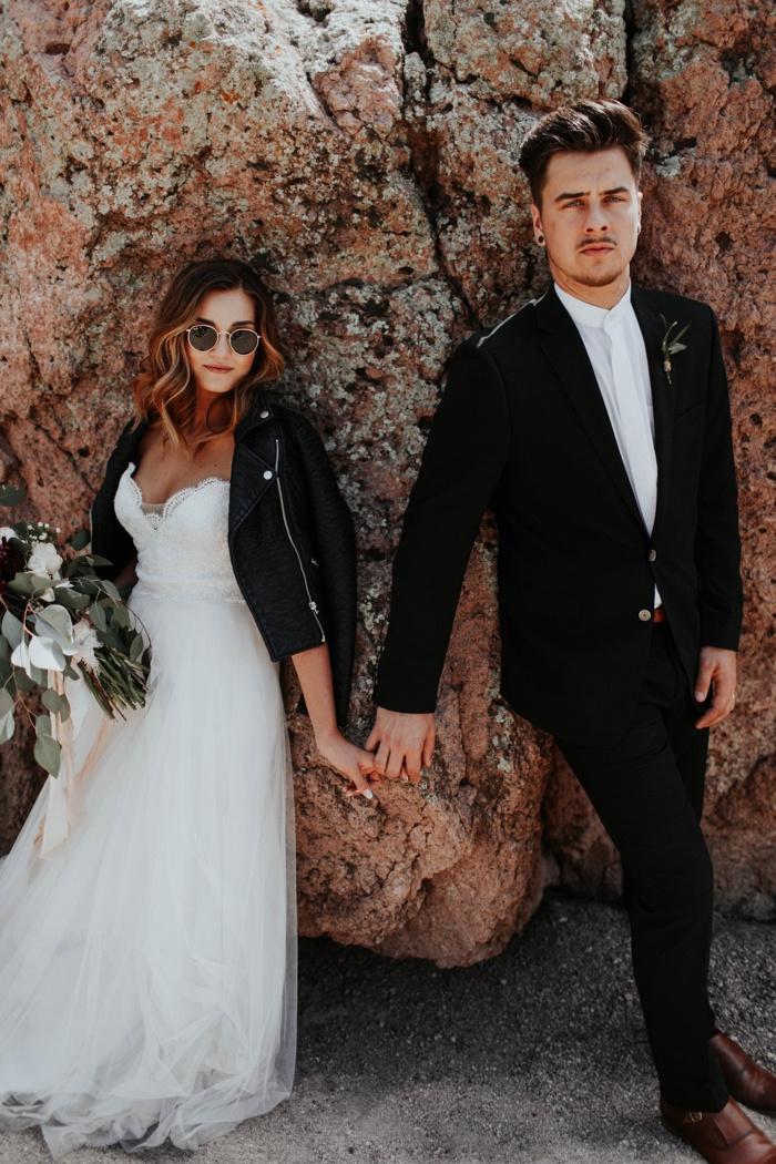 Elegant Black And White Phoenix Desert Wedding