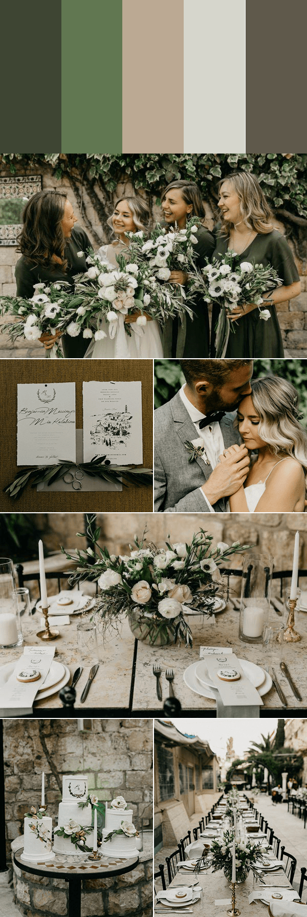 These 5 Muted Wedding Color Palettes Are Timeless With A