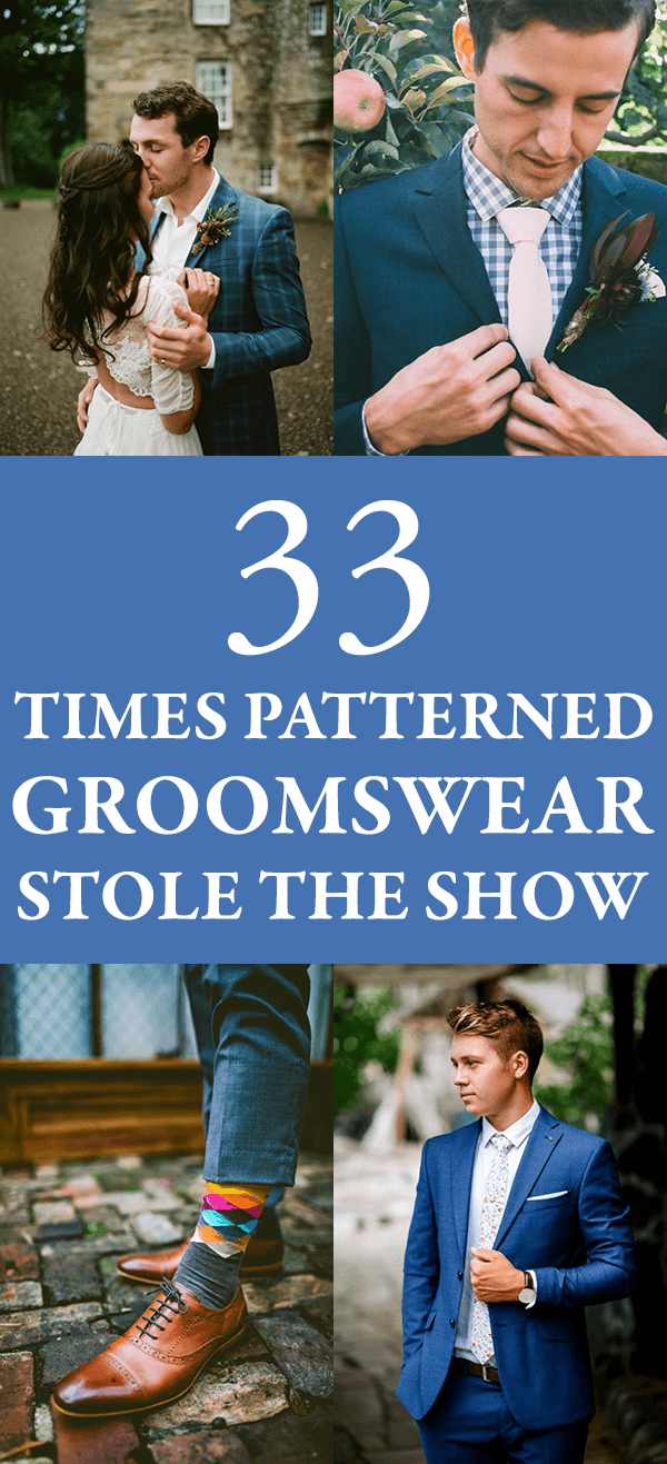 33 Times Patterned Groomswear Stole the Show + Styles You Can Shop ...