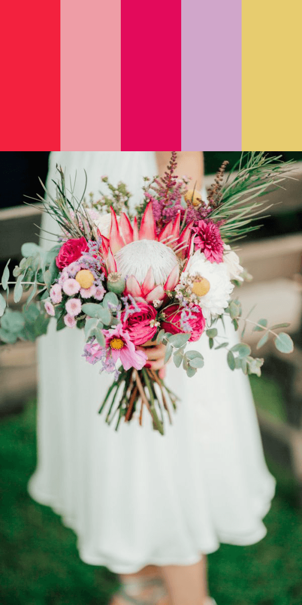 14 Stunning Bouquet Color Palettes To Show To Your Florist Junebug Weddings