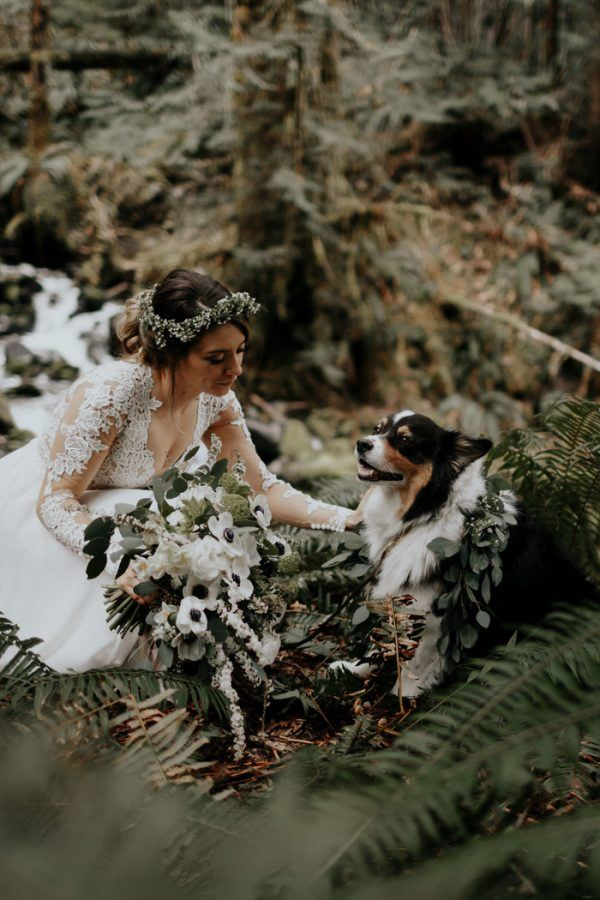 Private forest wedding