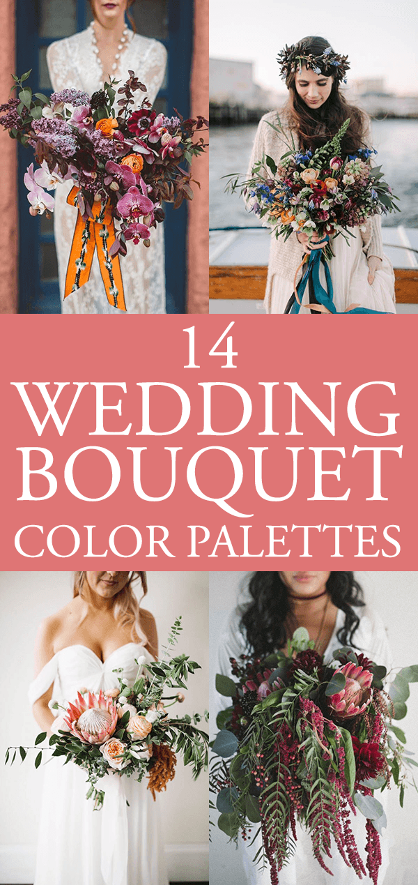 14 Stunning Bouquet Color Palettes To Show To Your Florist