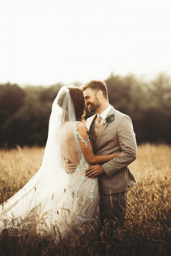 Earthy Boho Virginia Wedding in Copper and Gold