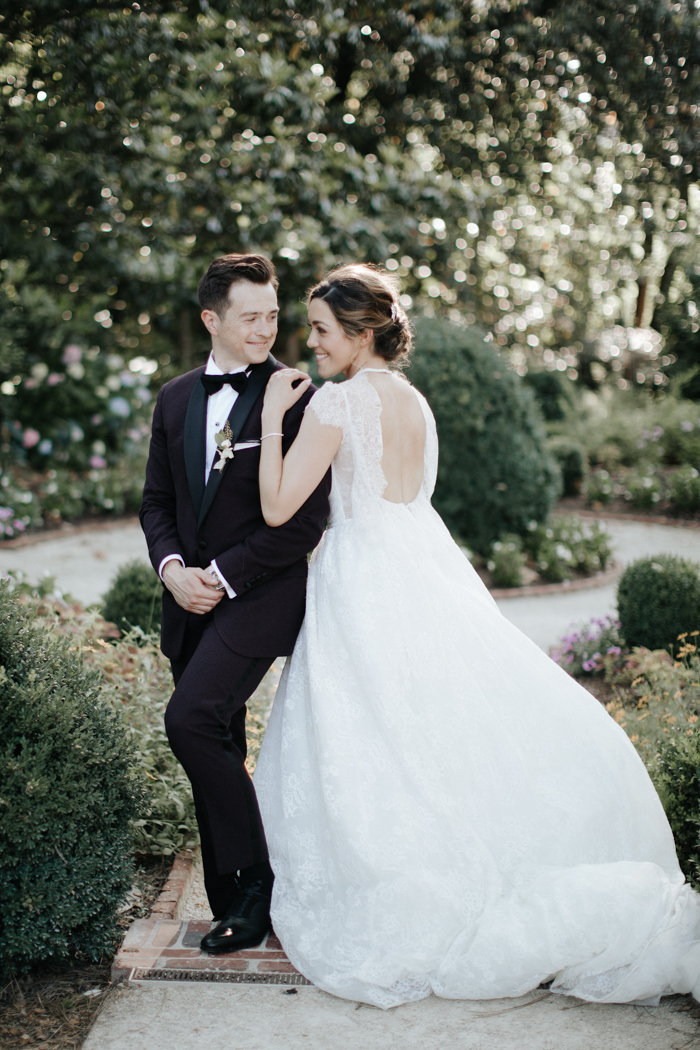Enchanted Charlotte Garden Wedding At The Duke Mansion Junebug Weddings