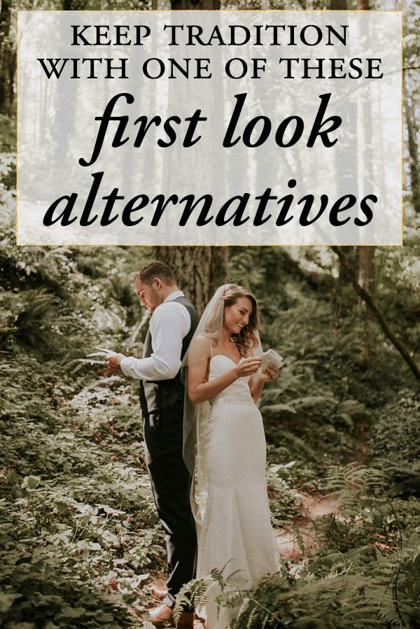 Wedding First Look.Keep Tradition With One Of These Sweet First Look Alternatives