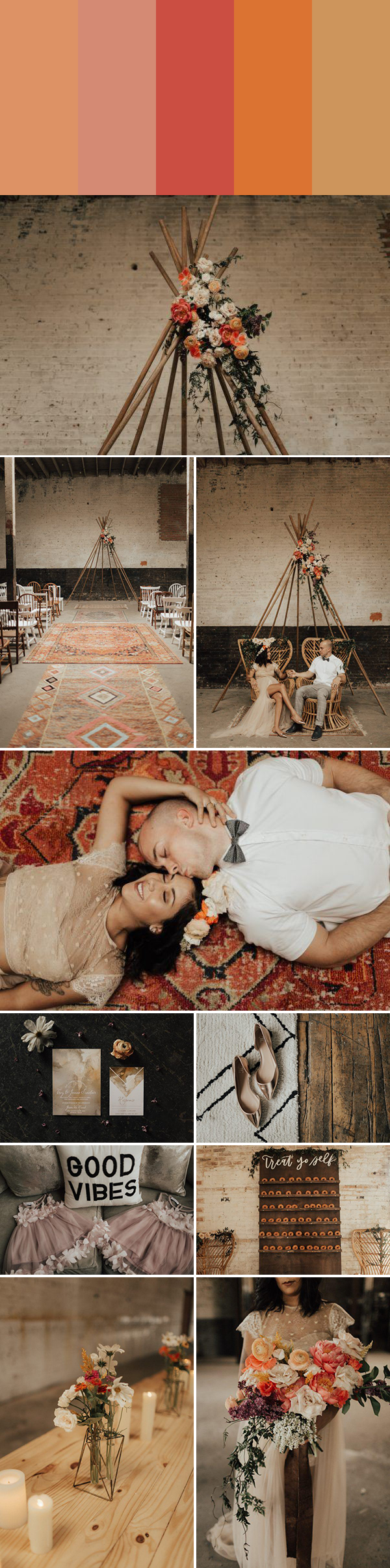 5 Seriously Pretty Monochromatic Wedding Color Palettes to